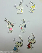 Snoopy Peanuts Woodstock Enamel Clip-on Charm Pendant for European Bracelet