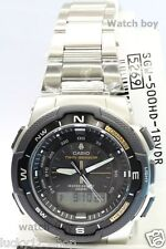 SGW-500HD-1B Black Casio Men's Watches Twin Sensor Compass Thermometer Sport New