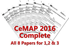 Complete ALL 8 2016 CeMap 1 2 and 3 Test Exam Papers  justified answers A, B, C,