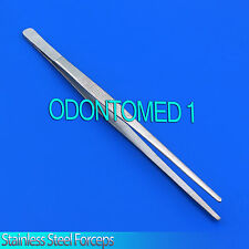 "10"" Stainless Forceps Tweezers Aquarium Maintenance Fish Plants Tank Tools"
