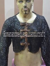 Chain Mail Half Shirt Flat Riveted Chain Mail Jacket Tapered Sleeves