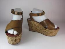 Authentic LANVIN Paris: Brown, Leather, Wedge Sandals/Heels  Sz: 9.5M  $825