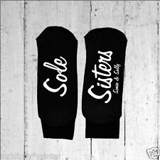Womens Personalised Sole Sisters Socks - Text Printed on the Sole One size 3-8