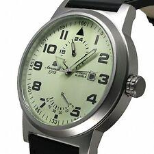 Retro-Design Uhr PILOT 24H+Powerreserve Anzeige A1350