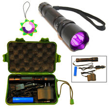 HQRP LED 365nm UV Black Light Flashlight Torch Ultraviolet Inspection Detection