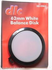 62mm White Balance Disk - Dot Line DL-2562 - Digital Color Balance Tool NEW D37