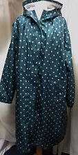 GORGEOUS COTTON TRADERS DARK JADE SPOT SHOWER PROOF COAT SIZE 26