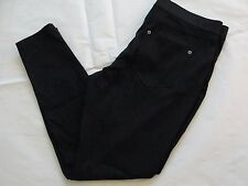 NWT $44 Hue Women Metallic Super Smooth Denim Skimmer Leggings Sz XS Black