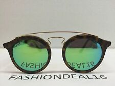 RayBan Authentic Round Small Tortoise Green Mirrored RB4256 6092/3R Sunglasses