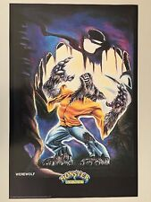MONSTER IN MY POCKET,WEREWOLF,MEGA RARE AUTHENTIC 1991 POSTER