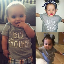 Family Sping Cotton Clothes Baby Boys Girls Kids Brother & Sister T-shirt Tops