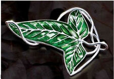 Lord of the Rings The same paragraph Leaf Brooch Necklace silver plated cool