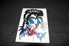 STRAY CATS Slim Jim Phantom & Lee Rocker signed Autogramm auf Foto InPerson RAR
