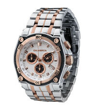CALABRIA - LEVATA - Rose Gold Two Tone Chronograph Men's Watch with Carbon Fiber