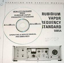 HP 5065A Rubidium standard Service & Operating Manual