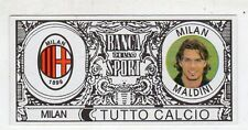 figurina - TUTTO CALCIO EURO MONETE  - MILAN MALDINI