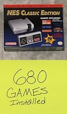 Modded 680 Games ~NES Classic Mini Edition Console~ Nintendo Games Pre-Installed
