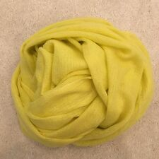 Light Yellow Pure Cashmere Wool Scarf Shawl Wrap Gift Nepal Handmade Mothers Day