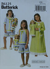 "**SALE** Butterick 6125 PATTERN for Girl's 2-5 & 18"" American Girl DOLL CLOTHES"