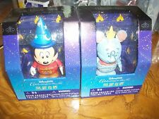 "Lot of 2 Disney Vinylmation Dumbo & Mickey Sorcerer 3"" Hong Kong Exclusive"