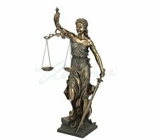 Large Blind Lady Justice Sculpture Goddess of Law and Order Statue  - New in Box