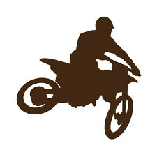 Motorcross moto dirt bike silhouette vinyle autocollant voiture mur art racing mud