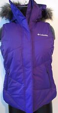 NWT Womens Medium Columbia Lay D Down Puffer Hooded Insulated Vest WR1466-540