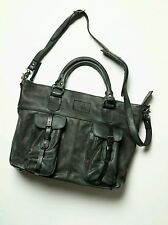 FREE PEOPLE By Artola Weekender Bag Leather Rugged Black Cargo Pockets RARE $675