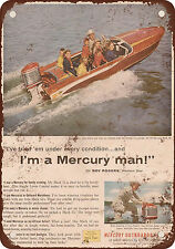 1957 Mercury Outboard Boat Motors Vintage Look Reproduction Metal Sign