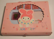 VINTAGE MY MELODY Rubber Stamp Set Sanrio Hello Kitty's Bunny Friend NICE!