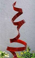 Large Red Modern Abstract  Indoor/Outdoor Metal Wall Sculpture by Jon Allen