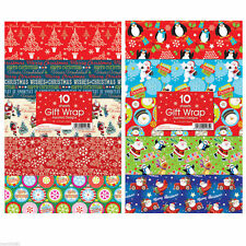 60 Assorted Christmas Gift Wrapping Paper Traditional & Cute