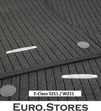 Mercedes-Benz Velour Floor Foot Mats Set E-Class S211 W211 B66360294 Genuine New