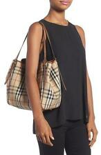 BURBERRY Small Canter Check & Leather Tote  Handbags $895.00