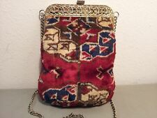 Vintage 20's Style Crossbody Shoulderbag Carpet Upholstery Boho Hippie Purse