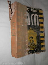 KIM Rudyar Kipling Traduzione di Gian Dauli Lucchi 1939 romanzo ibro di