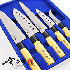 (GOLDSUN) Sashimi Kitchen Stainless steel Knife Set Cutlery Japanese Chef Knives