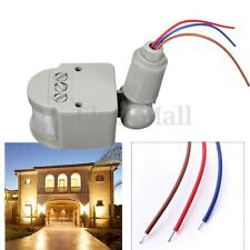 140° LED Outdoor 110-240V Infrared PIR Motion Sensor Detector Wall Light Switch