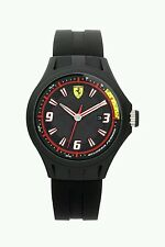 Scuderia Ferrari Men's Pit Crew Silicone Strap Wrist Watch - Black. New In Box