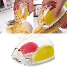Hot One Step Corn Peeler Cob Kerneler Thresher Stripper Cut Remover Kitchen Tool
