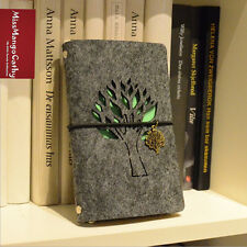 """""""Silent Tree"""" Luxury Fabric Cover Diary Pocket Planner Kraft Paper Notebook Gift"""