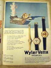 PUBBLICITA' ADVERTISING 1961 OROLOGI WILER VETTA INCAFLEX (T28)