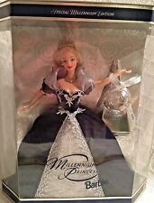 "Barbie Doll ""Millennium Princess"" 1999 New In Box w/Keepsake Ornament"