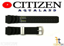 Citizen Aqualand BJ2024-01E Original 20mm Black Rubber Watch Band B740M-H18083
