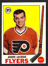 1969 70 TOPPS HOCKEY 98 ANDRE LACROIX NM PHILADELPHIA FLYERS CARD FREE SHIP USA