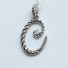 New DAVID YURMAN Script Initial C Charm Enhancer Pendant 925 Silver Diamond $350