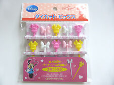 New!! Disney Minnie Mouse KAWAII Food Picks Bento Accessories FREE SHIPPING
