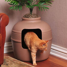 HIDDEN Cat LITTER BOX Decorative PALM TREE Planter EASY CLEANING Kitty Bed HOUSE