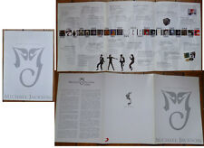 Michael Jackson - His Music Will Live Forever 2009 Fold-Out Info Sheet Hong Kong