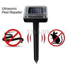 Solar Power Ultrasonic Pest Mole Repeller Garden Rat Mouse Snake Fly Repellent